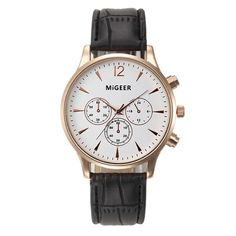 2.05$  Buy here - http://alieto.shopchina.info/go.php?t=32583409850 - MIGEER Luxury Business Watches Mens Fashion Faux Leather Strap 3.4cm Simple Dial Mens Analog Watch Wrist Watches  #magazineonlinewebsite