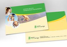 Diseño de logotipo y folleto para la Fundación Mano Amiga.