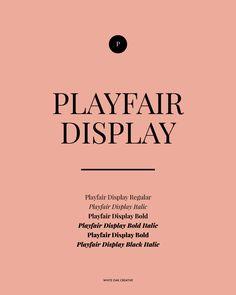 Playfair Display, great Google Web Font