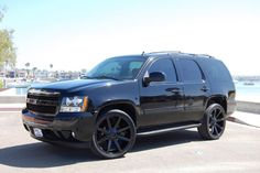 Would you rock this blacked-out Tahoe mod?