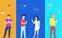 Find Group People Using Smartphone Concept Vector stock images in HD and millions of other royalty-free stock photos, illustrations and vectors in the Shutterstock collection. Social Media Trends, Social Media Channels, Social Media Marketing, Digital Marketing, Social Media Automation, Event Room, Best Brand, Make Money Online, Illustration