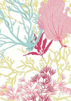 Close up of the Molokini #wallpaper in pink from the Biscayne collection! #thibaut