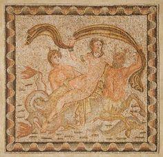 A Roman mosaic panel. Circa 2nd-3rd Century A.D.