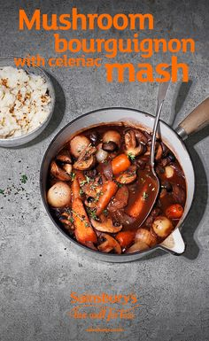 This healthier recipe is the perfect weekend meal. Ready in 1 hour, this mushroom bourguignon is a great winter warmer, the healthier comfort food that you've been looking for. Not a fan of celeriac? Why not try mashed carrot on swede.