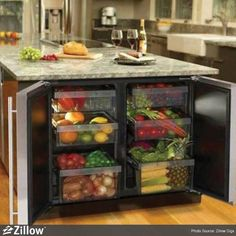 Fruit and Vegetable refrigerator. I need this!!!  theres not enough crispers in traditional fridges