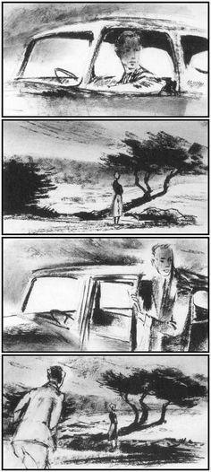 """StoryBoard - Hitchcock's """"Vertigo"""" (1958)"""