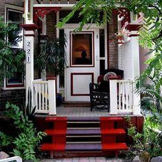 Good Feng Shui for Entrance, Front Door Decoration, Home Staging Tips Feng Shui Interior Design, Colorful Interior Design, Interior Design Inspiration, Colorful Interiors, Design Ideas, Small Front Porches, Front Porch Design, Porch Designs, Veranda Design