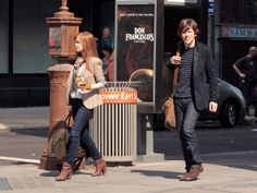 Isla Fisher and Jesse Eisenberg - Isla Fisher and Jesse Eisenberg Films 'Now Your See Me'