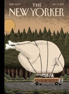 """A look at this week's cover, """"Turkey Day,"""" by Tom Gauld"""