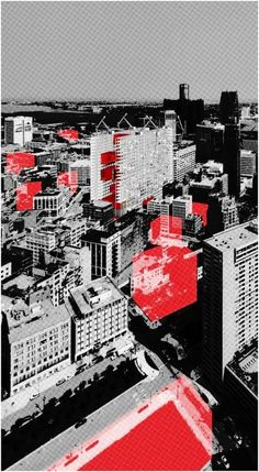 Redesigning Detroit: A New Vision for an Iconic Site, Distributing Downtown Diagram H Architecture 2013
