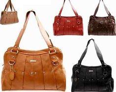 New black REAL LEATHER Vintage Handbag Womens Tote Shoulder Ladies Bags Black Red Tan