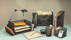 Desk organization is the first step to perfect focus at home or at the office.