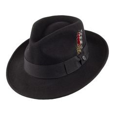 Buy the Jaxon & James Crushable C-Crown Fedora - Black at Village Hats. The destination for hats and caps online. Jaxon Hats, Bailey Hats, Pork Pie Hat, Leather Hats, Cool Hats, Women's Fashion Dresses, Crown, Womens Fashion, Mad Hatters