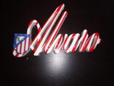 letrero infantil Alvaro atleti