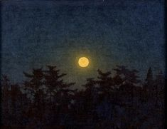 高島野十郎「月」 Moon(after 1961) Takashima Yajuro
