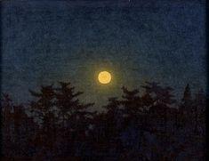 高島野十郎「月」 Moon(after 1961) Takashima Yajuro