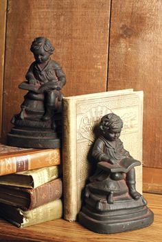 lovely old books and bookends