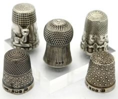 5 Assorted Solid Silver 925 Thimbles Various Designs | eBay Oct 25, 2013 / GBP 920.00