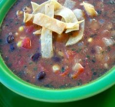 """Black Bean & Tortilla Soup: """"I loved this soup and the crispy baked tortilla strip garnish!""""      -*Parsley*"""