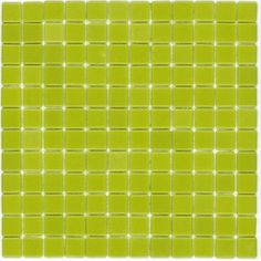 Elida Ceramica�12-1/2-in x 12-1/2-in Lime Ice Glass Mosaic Square Wall Tile (Actuals 12-1/2-in x 12-1/2-in)