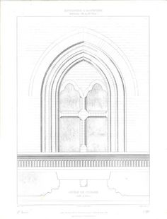 Architectural Drawing Window
