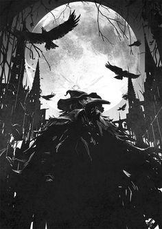 Bloodborne Fanart арт, Игры, Bloodborne, чумной доктор