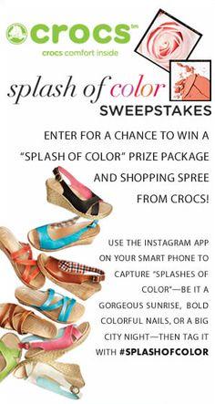 #SplashofColor Crocs Sweepstakes!