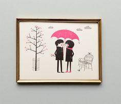 Wanddeko - Bild »After rain comes the sun« - ein Designerstück von superkiosque bei DaWanda
