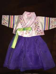Traditional Girl's Hanbok (100th Day Baek-Il Hanbok) 3-6months - FOR RENT-