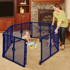 North States Superyard Classic 6-Panel Play Yard, Portable Indoor-Outdoor for Sale