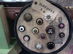 Love old buttons  Such a great idea