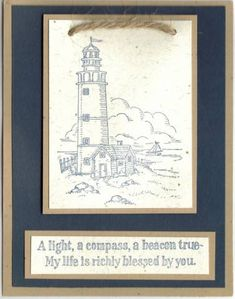 navy lighthouse by blackbirdcreations - Cards and Paper Crafts at Splitcoaststampers