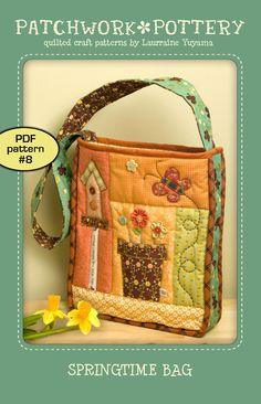 PatchworkPottery — SpringTime Bag