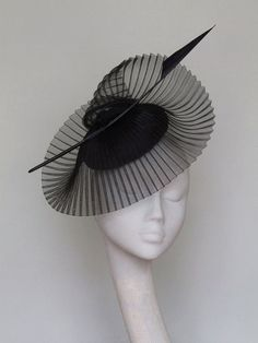b2bc31652ab Black Fascinator Derby Hat by CoggMillinery on Etsy Sinamay Hats