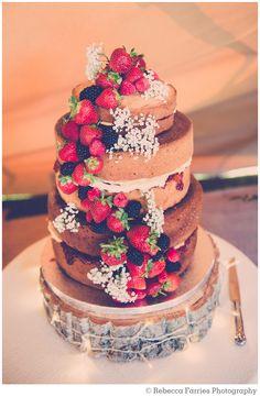 wedding, cake, naked, rustic, vintage
