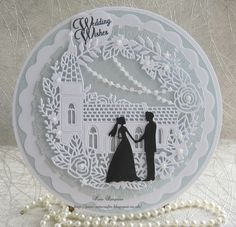 Easy Wedding Card. Sizzix thinlits 661705. Oh Happy Days.