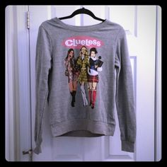 Clueless sweatshirt Says medium but fits like a small! Super cute, never worn Tops Sweatshirts & Hoodies