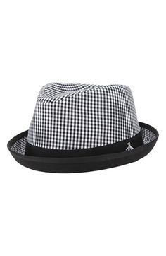 17970a6f18b4c Men s Original Penguin  Miramar  Gingham Check Fedora Stylish Hats