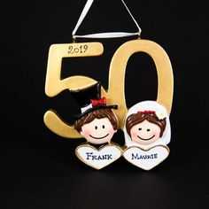 Anniversary Christmas Personalized Ornament Handmade Customized Couple's Golden Jubilee Holiday Gift With Custom Handwritten Names Personalized Christmas Ornaments, Handmade Ornaments, Christmas Tree Themes, Christmas Tree Ornaments, Holiday Gifts, Christmas Gifts, Kraft Gift Boxes, Etsy App, 50th Anniversary