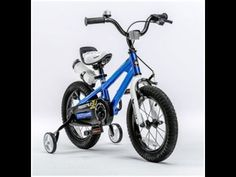 RoyalBaby BMX Freestyle Kids Bikes Blue in 12 inch from Best in Cheap Beginner BMX Bicycles for Boys - Best Kids Ride on Toys