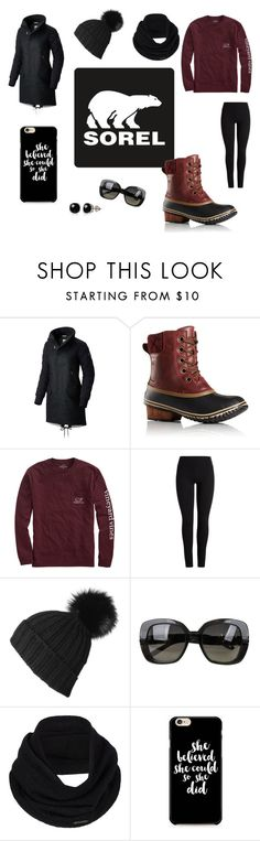 """Kick Up the Leaves (Stylishly) With SOREL: CONTEST ENTRY"" by annmcneilly on Polyvore featuring SOREL, Vineyard Vines, Black, Bottega Veneta, prAna, Belk & Co. and sorelstyle"