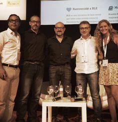 """Participación en la mesa redonda """"Marketing para start-ups"""" en el Biz Barcelona del 2015. Con Ricard Castellet, de BeRepublic, Rafael Mendez de BLE y Real4Trip"""