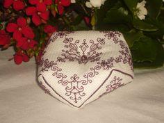 Tudor Blackwork 'Honeysuckle' Beaded Embroidery Kit by RedCatt on Etsy, £7.99
