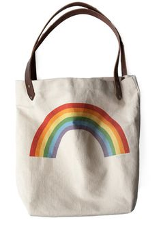 Sunday Market Tote in Rainbow
