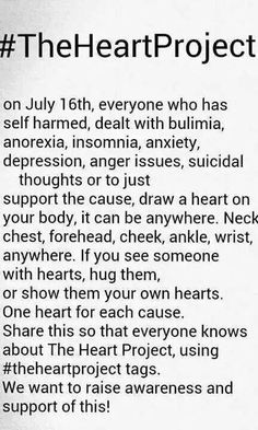 Please include EDNOS in this guys, ana and Mia aren't the only eating disorders. Thanks!! Love you all :)