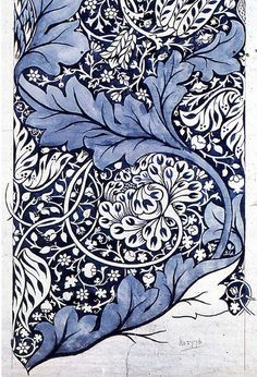 William Morris 'avon' 1886 'Avon' textile design by William Morris, produced by Morris & Co in This looks like a contemporary Zentangle! Morris was the best! William Morris Patterns, William Morris Art, Textile Patterns, Textiles, Print Patterns, Motifs Art Nouveau, Art Nouveau Pattern, Fabric Design, Pattern Design