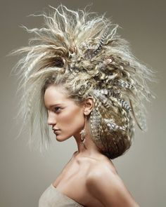 What a wild updo!