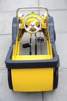 Brum Metal Classic Toy Ride-On Pedal Car - Back View by Steve Greaves, via Flickr