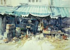 Light and shadow in Saigon No.1 (watercolor, 36x50 cm)