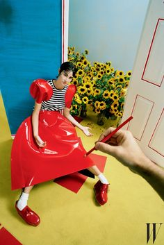 """Shailene Woodley photographed by Tim Walker for """"Best Performances"""" for W Magazine, February 2015"""
